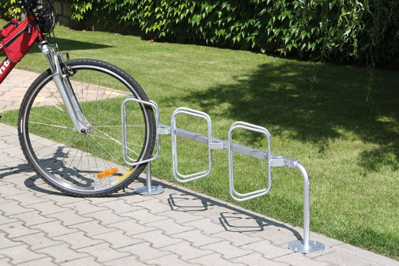 Stojan na kola - šikmé stání - 3 kola - ke kotvení