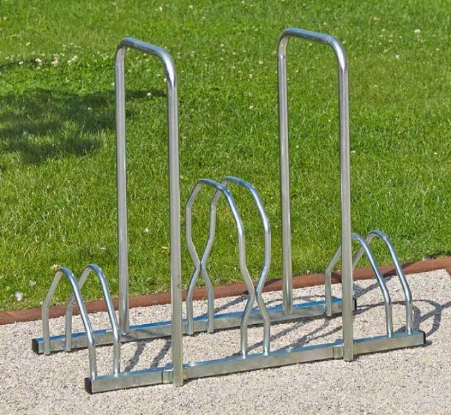 Stojan na kola - 3 kola - dvě výšky s rámem