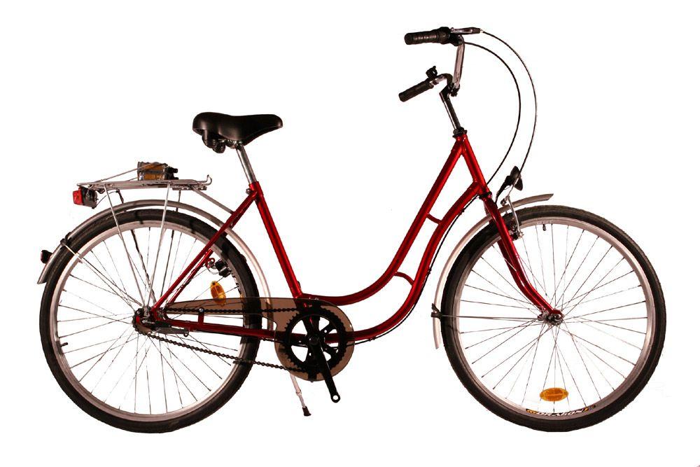 Kolo městské City Bike 26 Retro - 1sp. červené