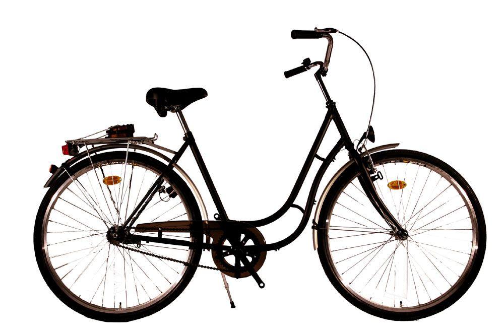 Kolo městské City Bike 28 Retro - 1sp. černé