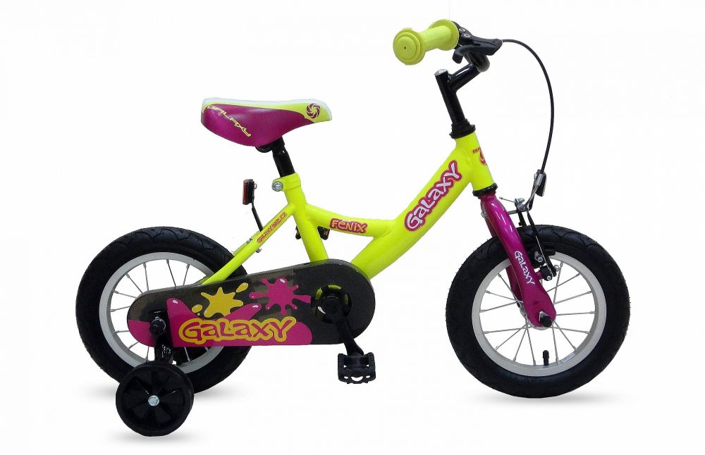 """Dětské kolo Galaxy 12"""" Fenix žlutý"""