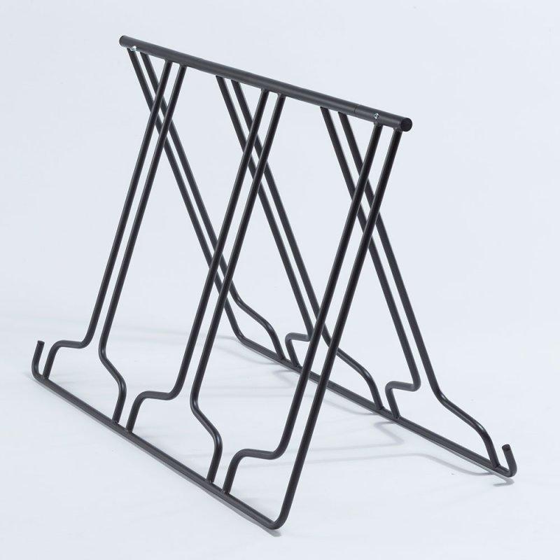 Stojan na kola - pro 6 kol - skládací, přenosný, tvar A