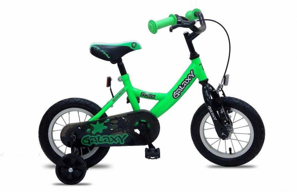 """Dětské kolo Galaxy 12"""" Fenix zelený"""