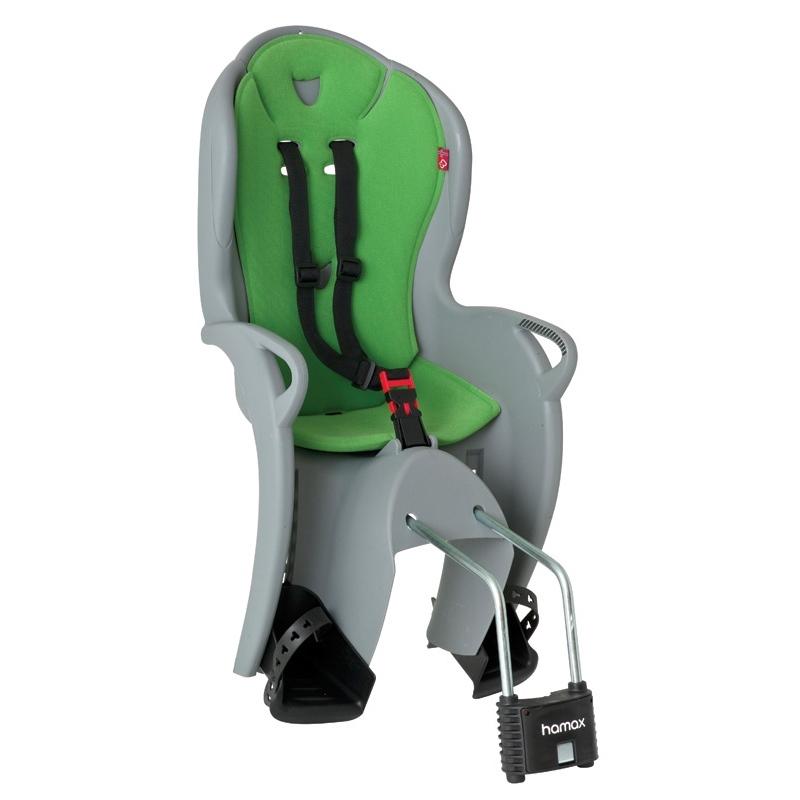 Sedačka dětská Hamax KISS zadní - světle šedá, zelený polstr