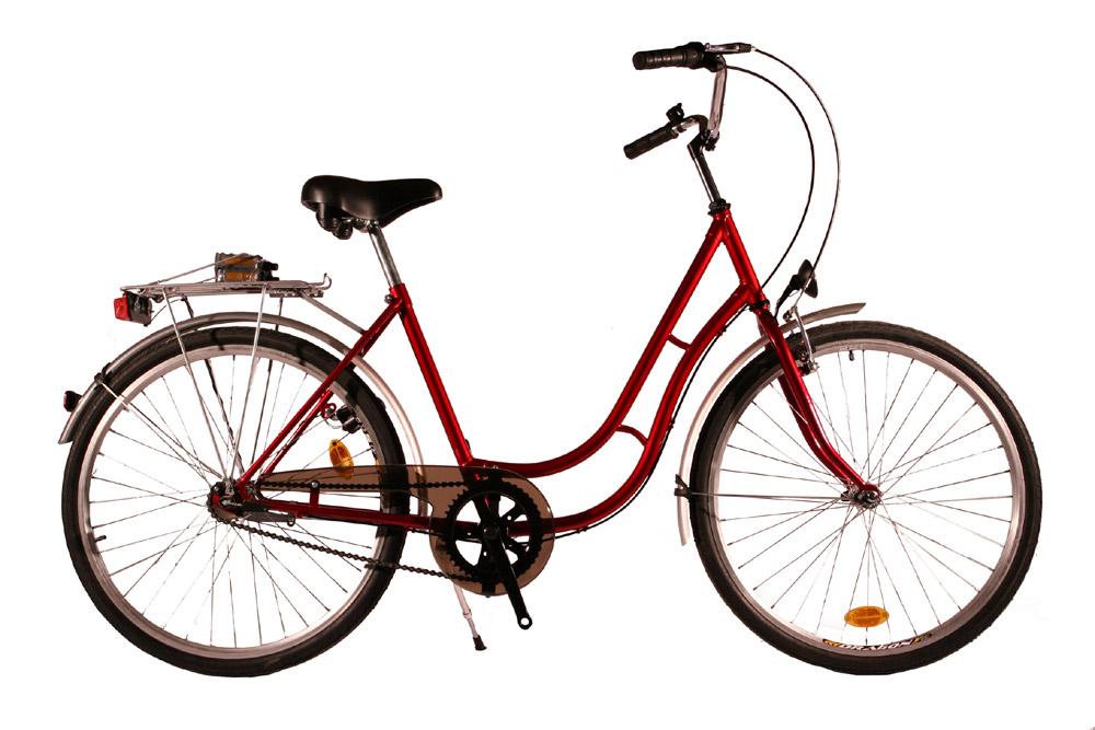 Kolo městské City Bike 26 Retro - 3sp. červené