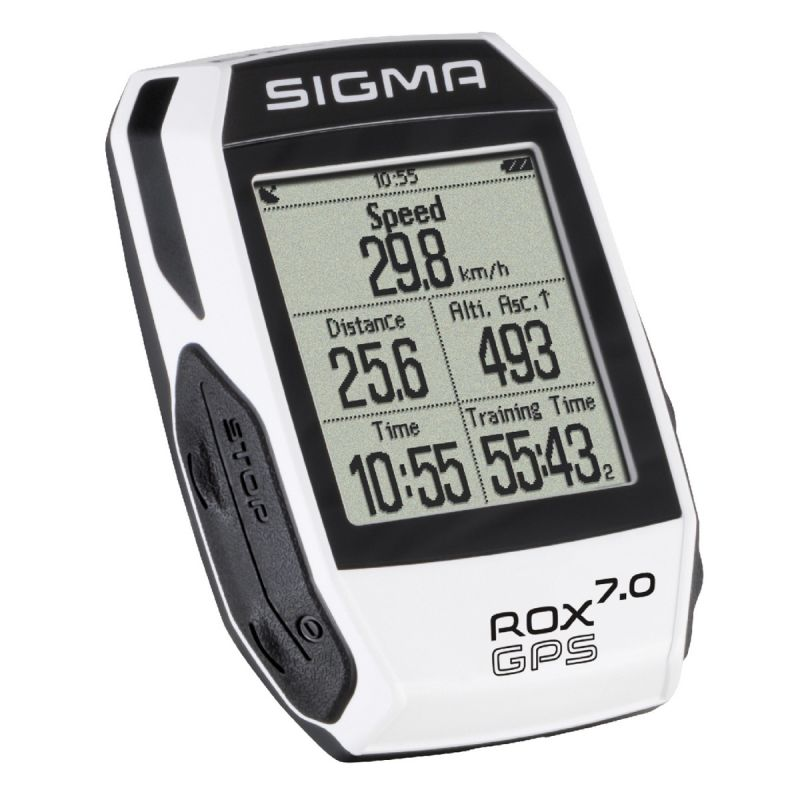 Cyklocomputer SIGMA ROX 7.0 GPS bílý